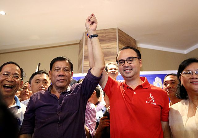 "Duterte: ""I am with Alan, I will not abandon him"""