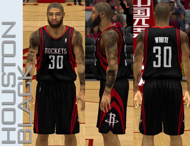 ... NBA 2K13 Houston Rockets Fictional Black   Red Jersey 0ee494ad4