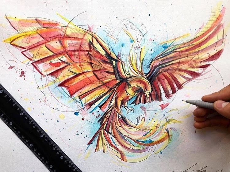 13-Rising-Phoenix-Liam-James-Cross-Wild-Animals-Drawings-and-Paintings-www-designstack-co