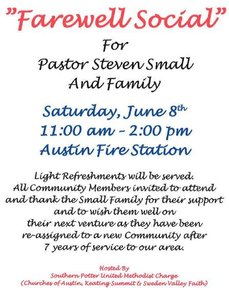 6-8 Farewell Social For Pastor Small