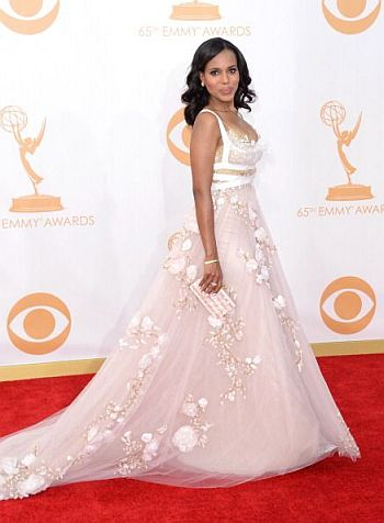 Kerry Washington in Marchesa at the 65th Annual Primetime Emmy Awards, 2013