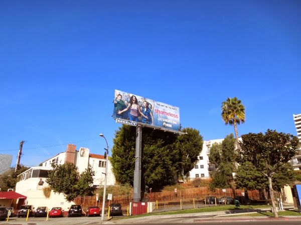 Shameless season 4 billboard Sunset Strip