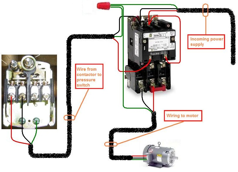 How To Wire A Contactor Elec Eng World