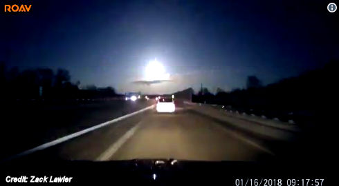 Fireball Over Michigan Causes Earthquake