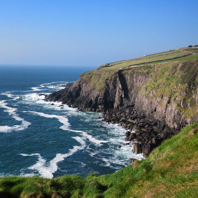 St. Patrick's Day Weekend on Dingle Peninsula - craggy cliffs and sea