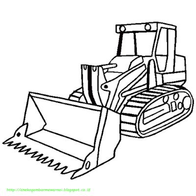 Mewarnai Gambar Bulldozer - 4