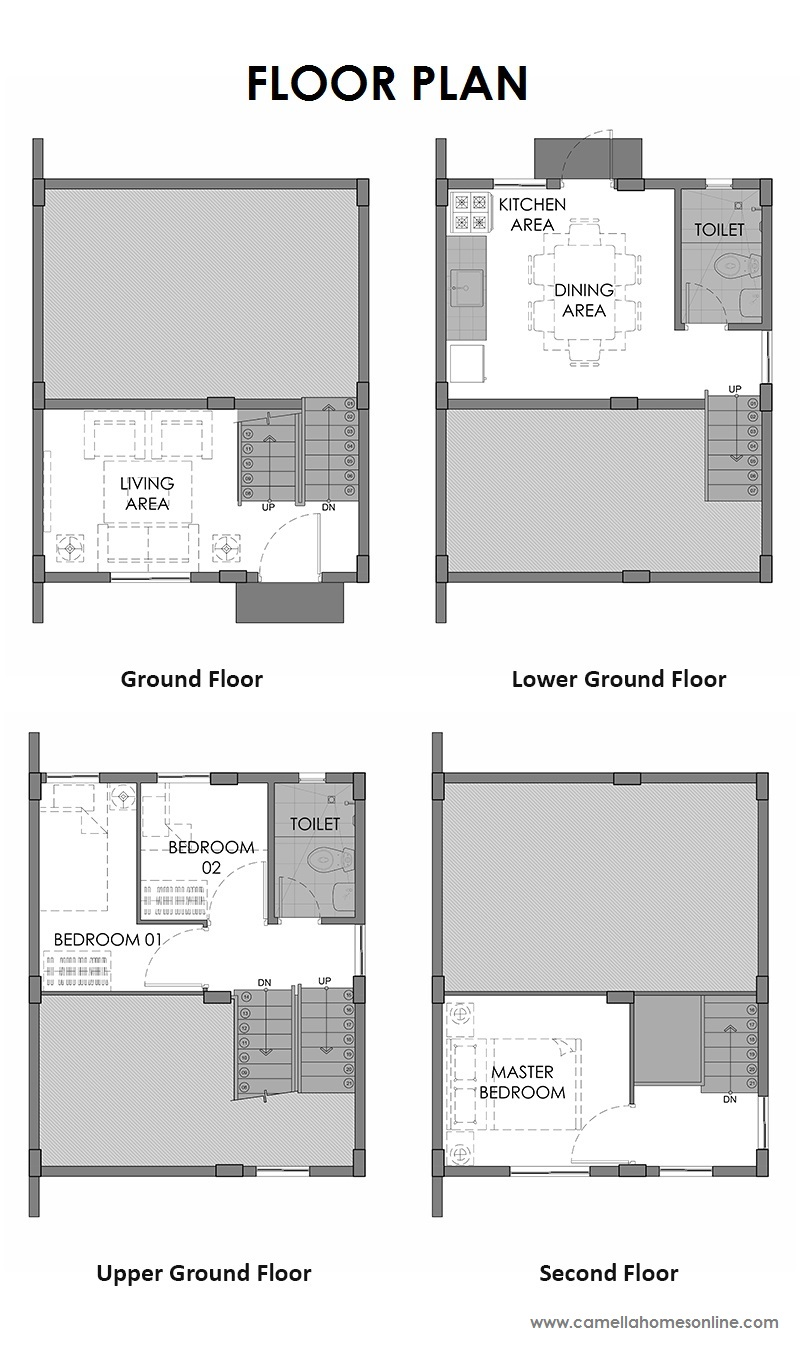 Floor Plan of Hanna Downhill - Camella Alta Silang   House and Lot for Sale Silang Cavite