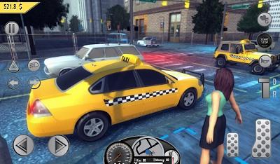 game simulator mengendarai taksi