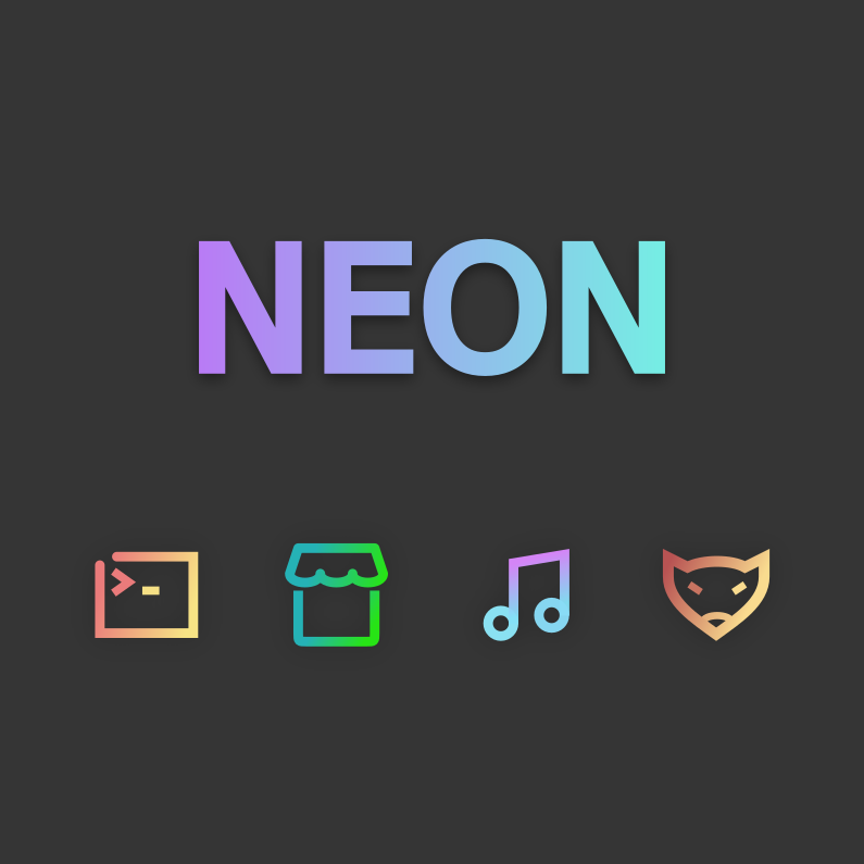 Neon Icon THemes for Ubuntu, Debian, Linux Mint and Arch Linux - The