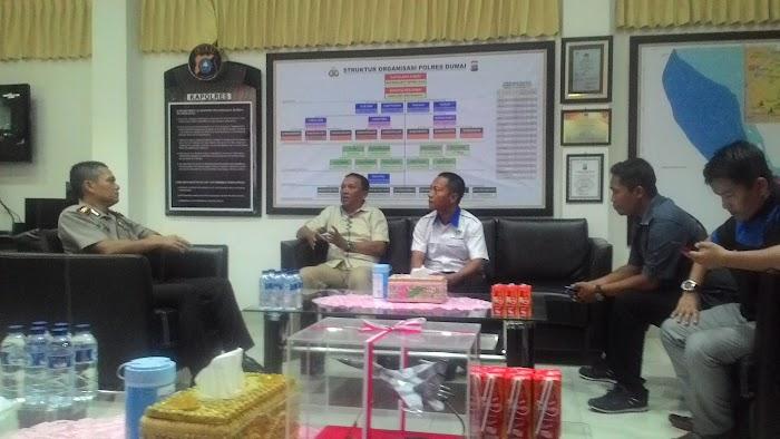 Jelang HPN, Pengurus PWI Silaturahmi ke Mapolres Dumai