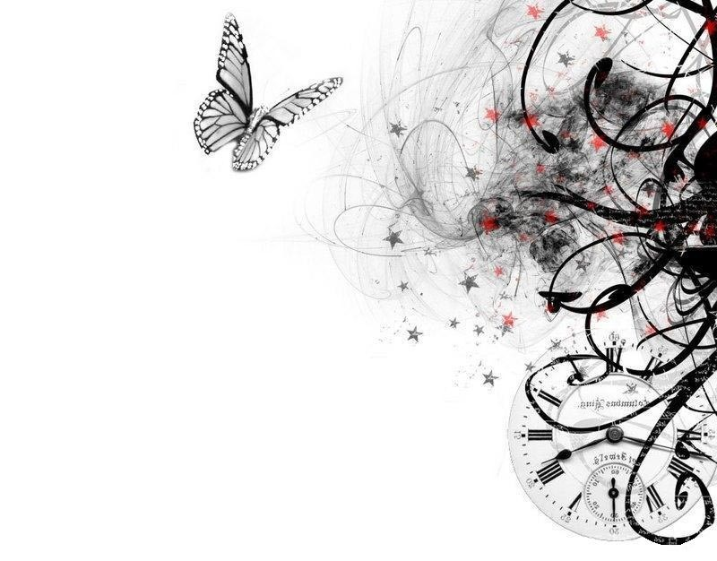 Black White Design Butterfly Background Wallpapers ...