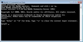 Hasil Cek Instal MySQL Windows