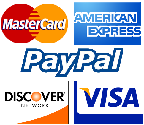 We Accept Credit Cards & Paypals