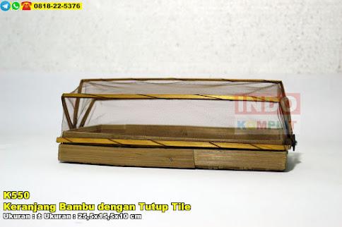 Keranjang Bambu dengan Tutup Tile