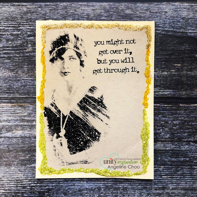 ScrappyScrappy: You Will #scrappyscrappy #unitystampco #cardmaking #card #stamp #stamping #youtube #quicktipvideo #vintage #timholtz #distressglitter #glitterborder #distressoxide