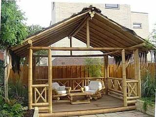 gazebo bambu minimalis modern