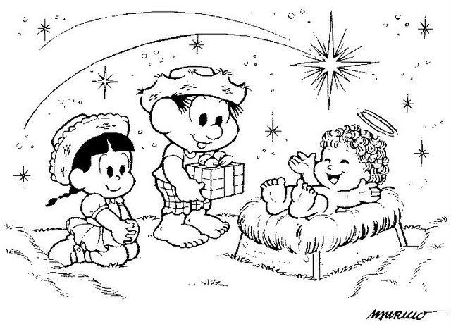 40 Desenhos Do Nascimento De Jesus Natal Para Colorir