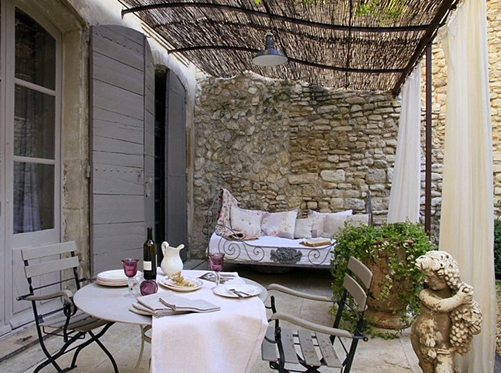 French cafe style outdoor furniture. french country provence life ...