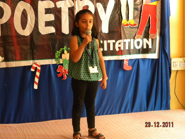 On The Top Of The World Poetry Recitation Competition For Jr Kg