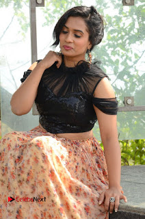 Actress Chetana Uttej Stills in Floral Long Skirt at Pichiga Nachav Movie Press Meet  0040.JPG