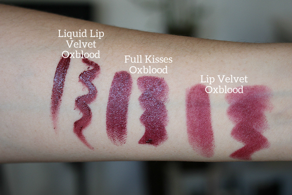 Burberry Liquid Lip Velvet swatch  oxblood