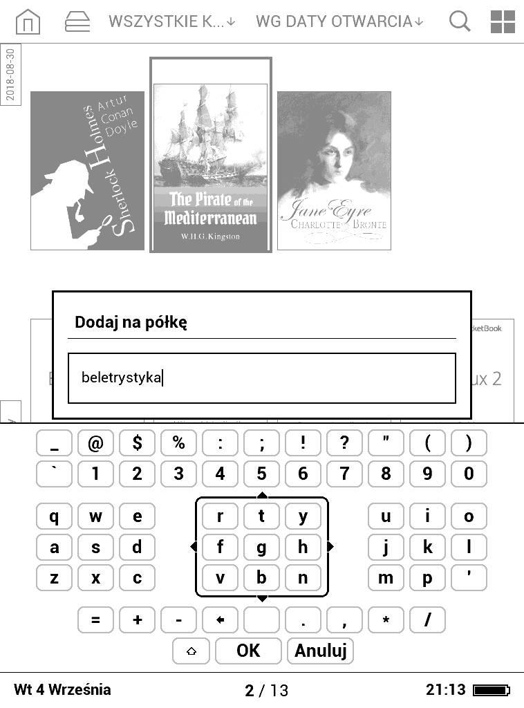 PocketBook Basic Lux 2 - dodawanie kolekcji