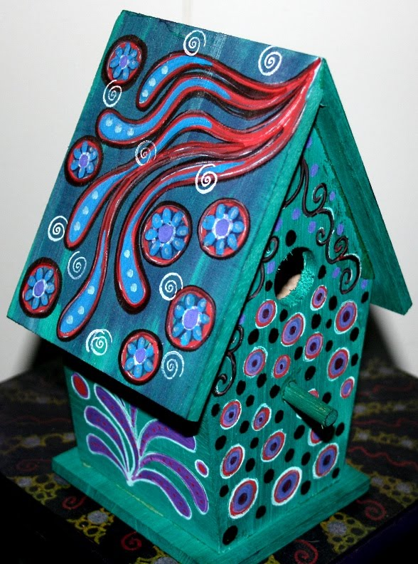 Funky Home Decor Hand Painted Birdhouses 29 95
