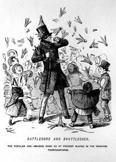 Permainan Battledore and Shuttlecock pada tahun 1854