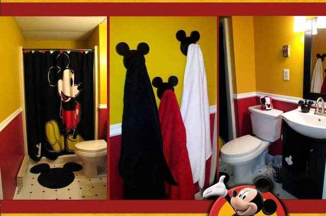 Mickey Mouse Bathroom Ideas Cool Mickey Mouse Bathroom Decorating Ideas  Home And Garden Ideas Design Decoration