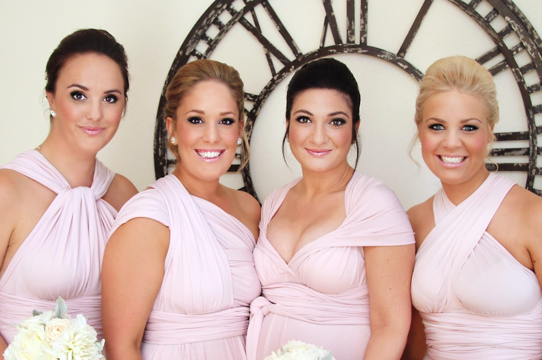 Smokey Eye Makeup, Pink Lipstick, pink bridesmaid makeup. Makeup by Katie Dawson from Perle Jewellery & Makeup