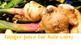 Health benefits of Ginger Juice - Ginger juice for hair care