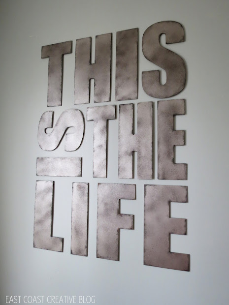 Industrial Metal Letters Faux Painting - Infarrantly