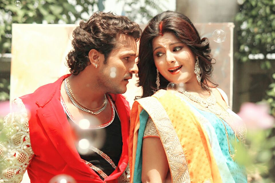 Khesari Lal Yadav, Smriti Sinha Shooting stills of Bhojpuri Movie Sajan Chale Sasural 2
