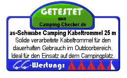 Testsiegel Camping Kabeltrommel as-Schwabe (4,5 von 5 Punkten)