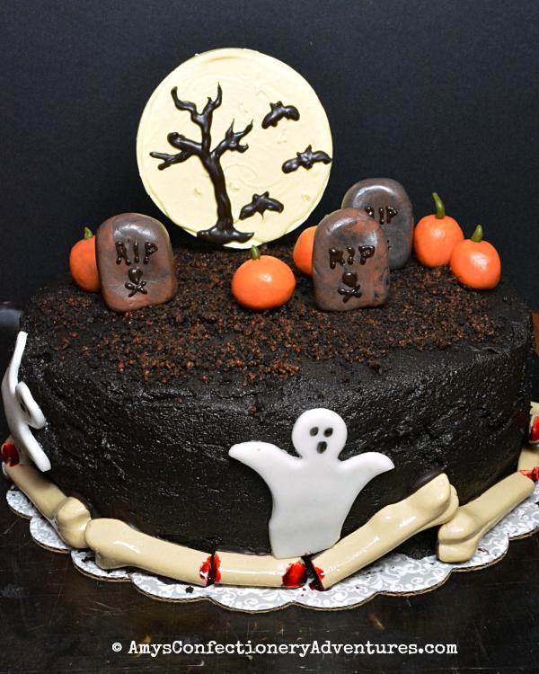 Brilliant Amys Confectionery Adventures Spooky Halloween Graveyard Cake Funny Birthday Cards Online Fluifree Goldxyz