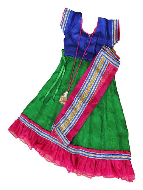 kids girls half saree langa voni dhavani traditional ethnic wear online