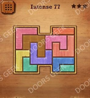 Cheats, Solutions, Walkthrough for Wood Block Puzzle Intense Level 77