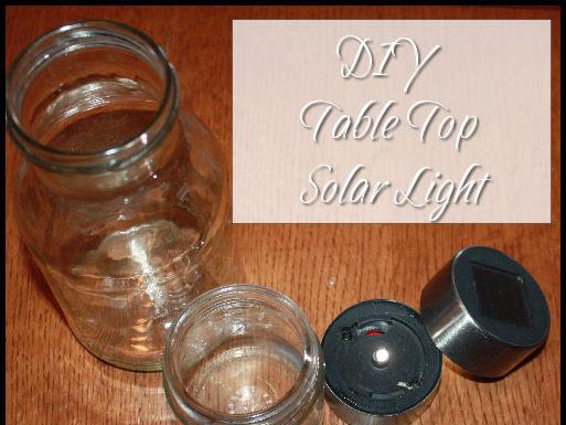 Repurpose a Solar Light into a fun table top night light