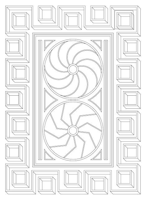 χρωμοσελίδα, μαίανδρος, σχέδια για χρωμάτισμα, αρχαιοελληνικό, μοτίβο, σχέδιο