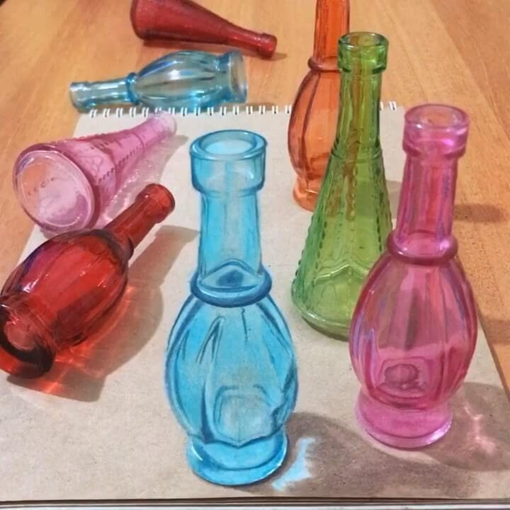 05-Colored-Glass-Bottles-Elif-Nihan-Sahin-3D-Drawing-www-designstack-co