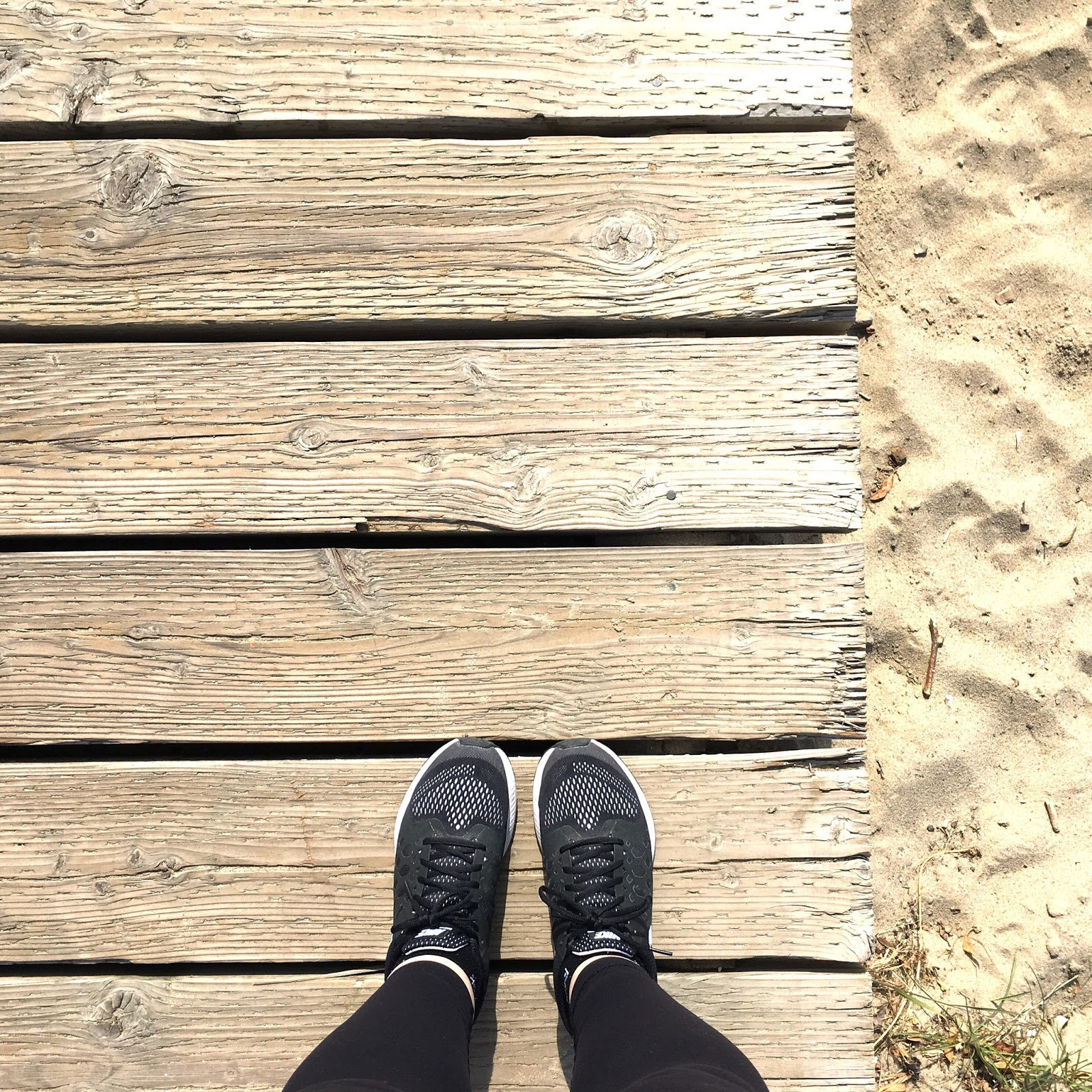 Nike Running Shoes and Lululemon Leggings