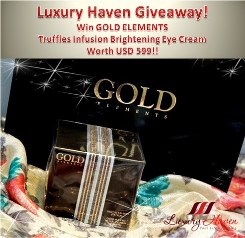 gold elements truffles infusion brightening eye cream giveaway