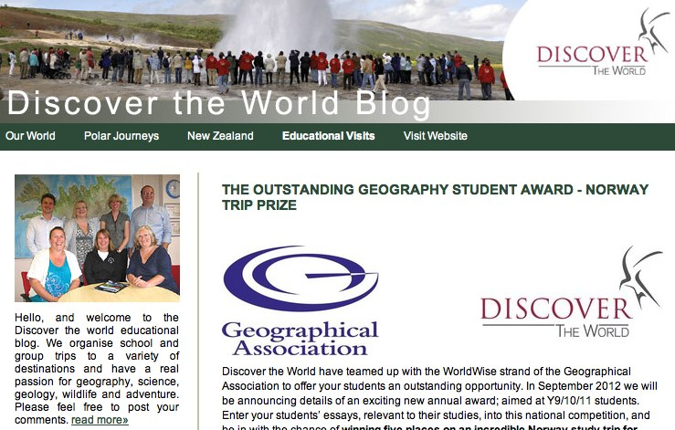 Geography essay competition 2013
