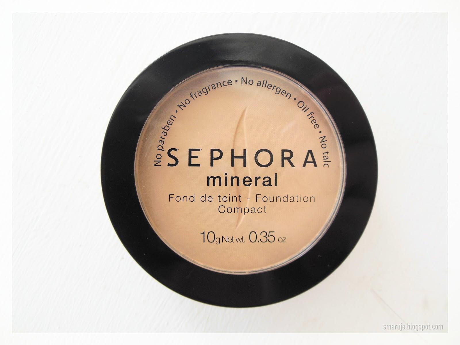 Sephora –Fond de Teint, czyli mineralny puder-podkład w kompakcie, odcień 25 medium beige