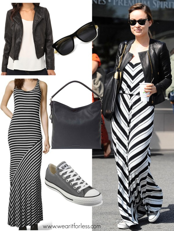 #oliviawilde, celebrity street style, celebrity wearing a maxi dress, outfit ideas for spring, how to wear a maxi dress