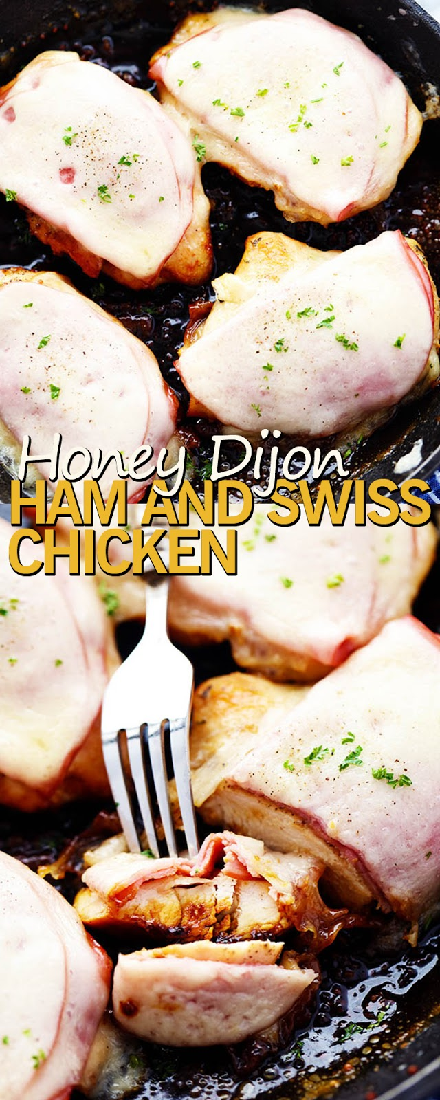 HONEY DIJON HAM AND SWISS CHICKEN