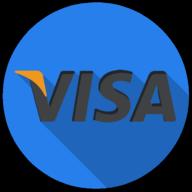 visa colorful button