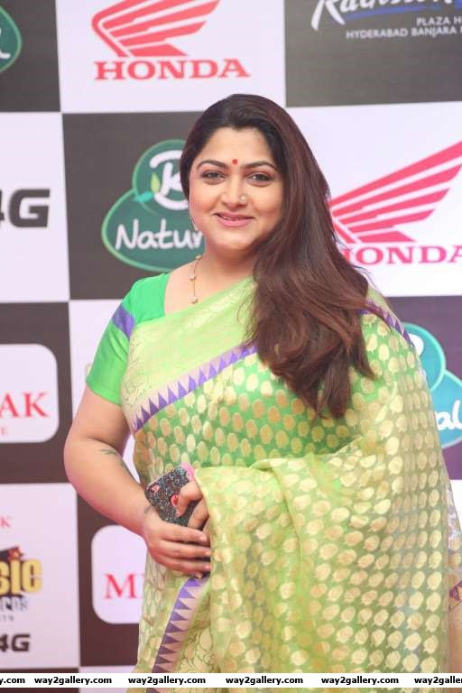 Khushboo was among the Tamil stars at Mirchi Music Awards South