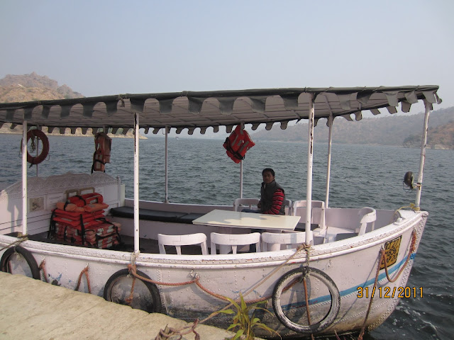 boats in jaismand lake