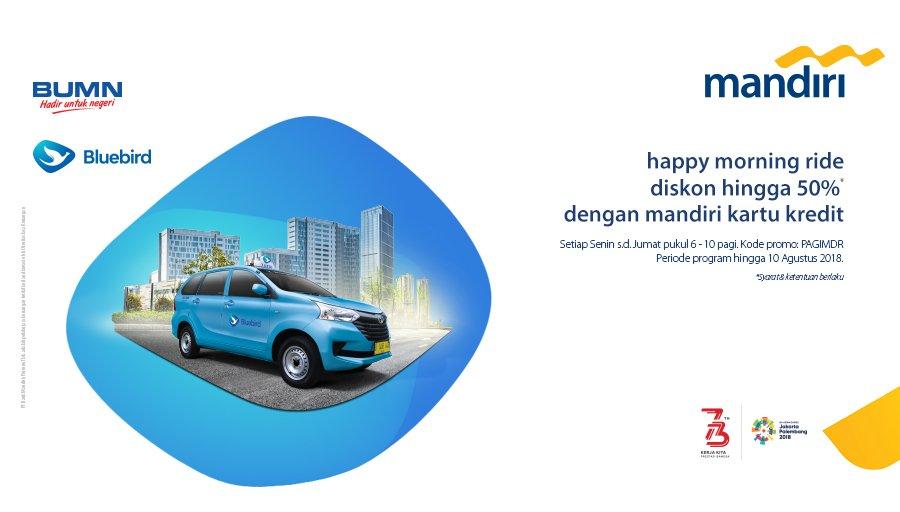 Bank Mandiri - Diskon 50% Pakai Kartu Kredit Mandiri (s.d 10 Agustus 2018)